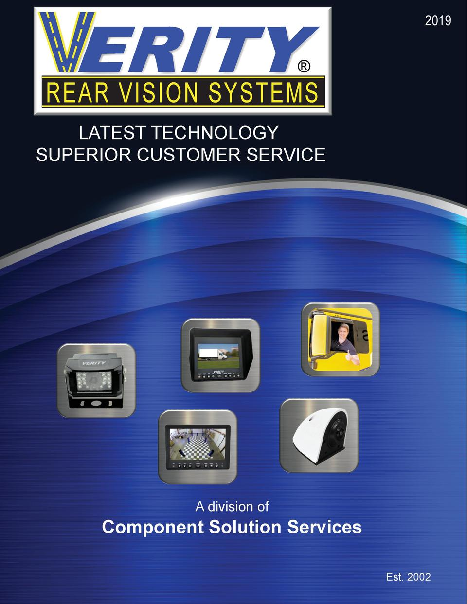 2019      REAR VISION SYSTEMS LATEST TECHNOLOGY SUPERIOR CUSTOMER SERVICE  A division of  Component Solution Services Est....